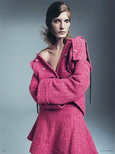 Valerija Kelava for Vogue Germany October 2013 by Sebastian Kim | The Fashionography