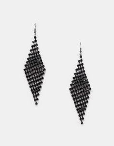 Ohrringe von Lipsy Modell im Kronleuchterstil verziertes Glasdesign Hakenbefestigung Kontakt mit Flüssigkeiten vermeiden 50% Glas, 50% Metall