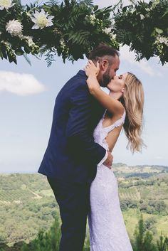 Cody and Cassie's elegant and effortless wedding, featuring our Alexandra gown.