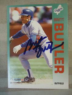 1992 Fleer #448 Brett Butler (TTM)