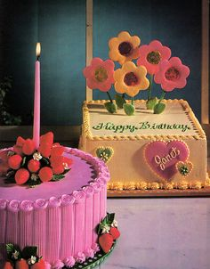 Pretty vintage cakes from 1979s Discover the Fun of Cake Decorating  Image from  my vintage book collection on flickr