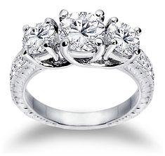 Diamond Engagement Ring 2.40 ct. tw.  #Pinterest #WorldJewels #EngaementRings