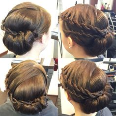 Shiny Updo with Braiding