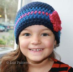CROCHET HAT PATTERN Crochet girls beginners hat pattern includes (09) 4 sizes from newborn to adult. $3.99, via Etsy.