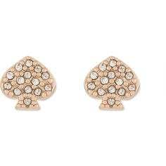 Kate Spade New York Signature spade earrings ($47) ❤ liked on Polyvore featuring jewelry, earrings, polish jewelry, charm jewelry, earring jewelry, charm earrings and rose earrings