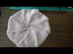 Как связать женский берет на двух спицах (или на спицах с леской). - YouTube Knitting Stitches, Knitting Patterns, Knitted Hats, Crochet Hats, Beret, Flowers In Hair, Shawl, Winter Hats, Beanie