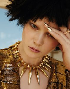 visual optimism; fashion editorials, shows, campaigns & more!: golden eye: diana moldovan by jamie nelson for vogue taiwan july 2015