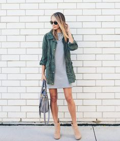 I have an olive jacket that would be perfect with this! I have an olive jacket that would be perfect with this! Would also love some new cute booties. Mode Outfits, Fall Outfits, Summer Outfits, Casual Outfits, Fashion Outfits, Spring Outfits Women Casual, Spring Fashion Casual, Fashion Fall, Fashion Ideas