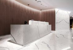 "Marmi Maximum: Calacatta Statuario 120""x60"" Porcelain Panels offered by Dwyer Marble & Stone"