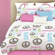Health  Beauty Collection  - Veratex Peace and Love Comforter Set QUEEN Pink/White, $62.99 (http://www.healthbeautycollection.com/veratex-peace-and-love-comforter-set-queen-pink-white/)