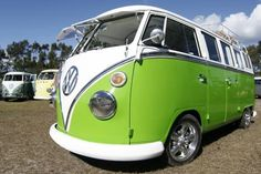 Lime green Volkswagen Bus Camper!! Travel around