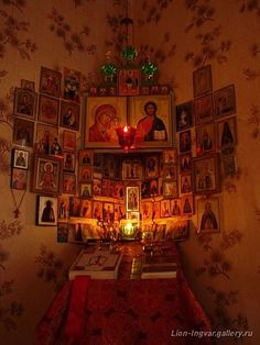 Someone seriously loves their saints. Add photos of family and friends to remember to pray for them