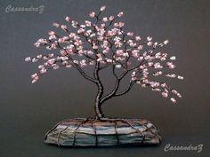 Asymmetrische Kirschblüte Perlen Bonsai Mini Wire von CassandraZ