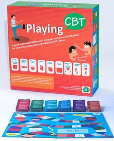 Playing CBT - Therapy Game to Develop Awareness of Thoughts, Emotions and behaviors for improving Social Skills, Coping Skills and Enhancing self Control.- New Version Cbt Therapy, Therapy Games, Therapy Activities, Play Therapy, Therapy Ideas, Coping Skills, Social Skills, How To Control Anger, Behavior Interventions
