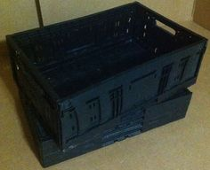 Wholesale Lot 5 Heavy Duty Stackable Crates (BLACK)   SKU#CBOX88 #Unbranded
