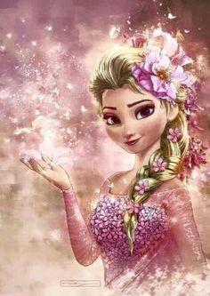 DIY Diamond Painting - Elsa from Frozen Disney Princess Drawings, Disney Princess Pictures, Princess Cartoon, Disney Drawings, Princesa Disney Frozen, Disney Frozen Elsa, Disney Kunst, Art Disney, Disney Girls