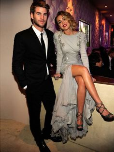 My Favorite Picture Of Them #Miley #liam #cute