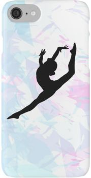 Water Colour Gymnastics Silhouette  iPhone 7 Cases