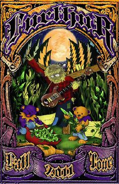 Original concert poster for Furthur and their 2011 Fall tour. 11x17 card stock. Art by Mark Serlo.