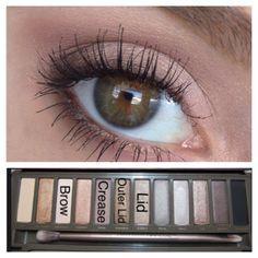 A natural makeup look with the Naked 2 palette by Urban Decay. Kiss Makeup, Cute Makeup, Beauty Makeup, Hair Makeup, Beauty Tips, Makeup Goals, Makeup Inspo, Makeup Inspiration, Makeup Geek