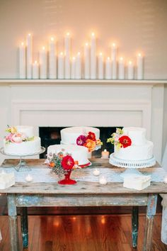 Adore the cake display with tons of personality #cedarwoodweddings Cedarwood Southern Vintage Wedding Infused with Mexican Flare   Cedarwood Weddings