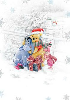 Weihnachten - Disney - Winnie-the-Pooh & Friends - Carcamy Cute Winnie The Pooh, Winnie The Pooh Christmas, Winne The Pooh, Vintage Winnie The Pooh, Winnie The Pooh Quotes, Disney Christmas, Christmas Art, Eeyore Pictures, Mickey Mouse And Friends