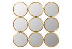 Multi Circle Mirror, Gold