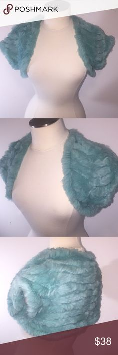100% Rabbit Fur Turquoise Create your own style! In excellent condition. See pictures for more details. Ask questions before purchasing. Bundle for discounts!  The Rabbit fur is for sale only, none of the accessories are included. Thanks for shopping my closet 🤗 Accessories Scarves & Wraps
