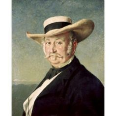 General John A Sutter Frank Buchser (1828-1890 Swiss) Oil on canvas National Gallery of Art Washington DC Canvas Art - Frank Buchser (18 x 24)