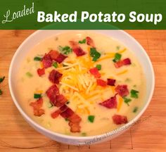 Loaded Baked Potato Soup - Modern Christian Homemaker