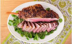 Our roasted leg of lamb with fresh herbs and red wine sauce makes an impressive holiday centerpiece.