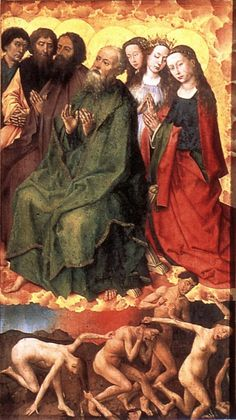 WEYDEN, Rogier van der The Last Judgment (detail) 1446-52 Oil on wood Musée de l'Hôtel Dieu, Beaune