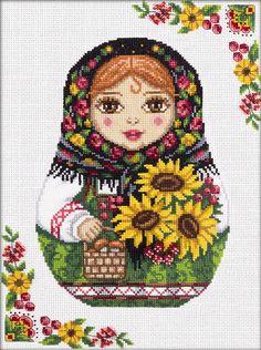 Набор для вышивания Panna НМ-1791 Русская матрёшка. Осень