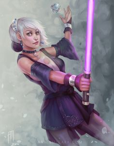 Daughter of the Jedi Grand Master Star Wars Droids, Star Wars Rpg, Star Wars Fan Art, Star Wars Jedi, Star Wars Characters Pictures, Star Wars Images, Female Characters, Character Portraits, Character Art