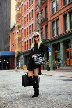 c8ce1a14898 Blair Eadie A.K.A Atlantic Pacific in All Black Fashion with Classic   Chanel Bag Blair Eadie