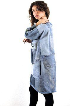 Джинсовые пэчворк пальто (подборка) / Переделка джинсов / ВТОРАЯ УЛИЦА