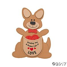 Send A Homemade Valentine From Down Under With This Kangaroo Craft For Kids They Will Love Making Fun And Easy During Valentines Day