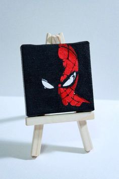 Well, the artistic miniature painting ideas listed in this article are intricate and delicate brushwork which lends them a unique identity, these paintings - Visit to grab an amazing super hero shirt now on sale! Cute Canvas Paintings, Easy Canvas Art, Small Canvas Art, Mini Canvas Art, Mini Paintings, Diy Canvas, Super Hero Paintings, Unique Paintings, Painting For Kids
