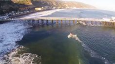 Shooting the Pier at Malibu, CA - Drone Footage - Aug. 27, 2014
