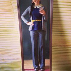 Peplum + metallic accessories | Style tips | Grace in Style