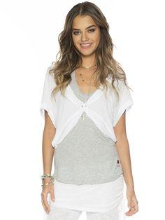 I am Love White Alexis Fashion Shrug