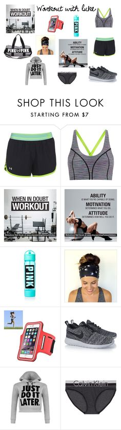 """Workout With Luke Ross"" by makayla-cowan on Polyvore featuring Under Armour, Sweaty Betty, NIKE, WearAll, Calvin Klein, women's clothing, women's fashion, women, female and woman"
