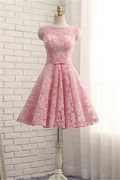 Sale Sleeveless Dresses Short Pink Prom Homecoming Dresses With Bandage Lace Up Knee-length Luxurious Prom Dresses Grey Prom Dress, Lace Homecoming Dresses, Prom Party Dresses, Dress Lace, Occasion Dresses, Dresses Short, Pink Dresses, Sleeveless Dresses, Lace Dresses