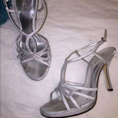 Aidan Silver High Heel at SimplyDresses.com | Ball-dress ideas