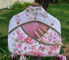 Upcycled Sheets Clothespin or Lingerie Bag by Geneva Designs, via Flickr