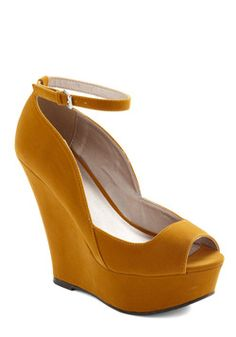 $44.99 ....i can't even...i mean....they're just so pretty...Step Into My Office Wedge, #ModCloth