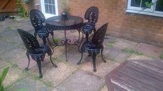 Victorian Style Cast Aluminium Garden Furniture Set/Patio Table + ...