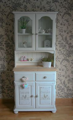 Farmhouse Solid Pine Welsh Dresser French Country Shabby Chic Annie Sloan Ebay