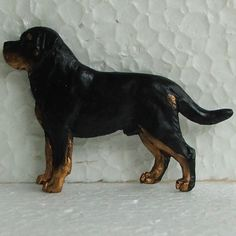 Rottweiler Brooch Dog Breed Jewellery Handpainted Handcrafted Resin
