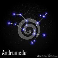 Andromeda Constellation avec la belle étoile lumineuse